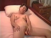 Cate using vibrator and then total of spunk