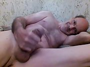 Wanking my firm cock and edging for hours