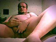 Masturbating off with frustrating destroyed cum
