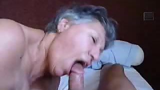 A sexy grannie just loves a large cock
