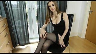 Lovely stella spreads her nice body in stocking