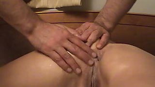 Tight ass-fuck sex and internal ejaculation for sexy brunette wifey with a great bod
