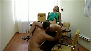 Sex in a government office after working hours with secretary