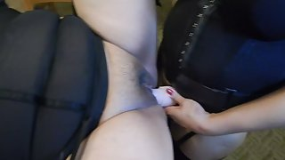 My wife plowing her plus-size mansion maid