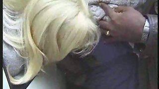 Mature blond dogging