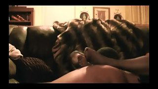 Hot wifey gets seeded by a black bull in our living room