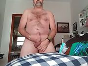 Danrun oozes his mouth-watering spunk on his furry stomach