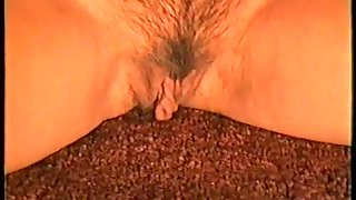 Finger in her pussy cupping breasts and fingering raw snatch